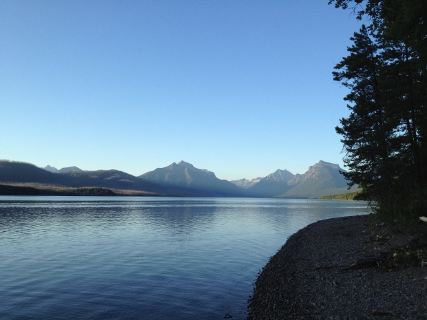 View of Lake McDonald near our campsite, Glacier National Park, MT