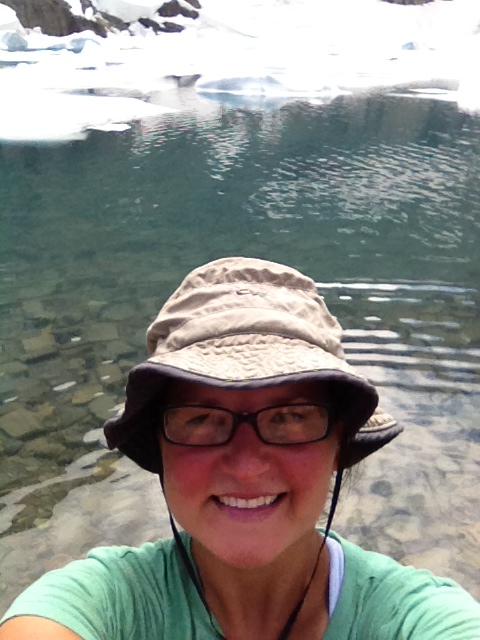 Me standing in Iceberg Lake, Glacier National Park, MT