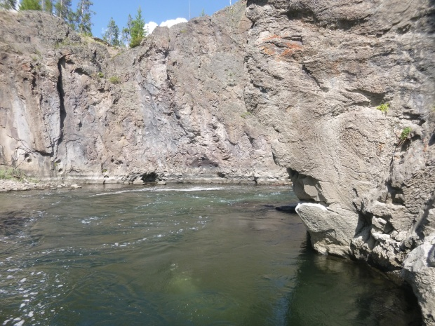 Our (warm!) swim spot in Firehole Canyon, Yellowstone National Park, WY