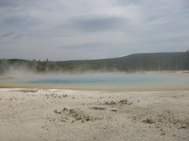 Hot spring in Upper Geyser Basin, Yellowstone National Park, WY