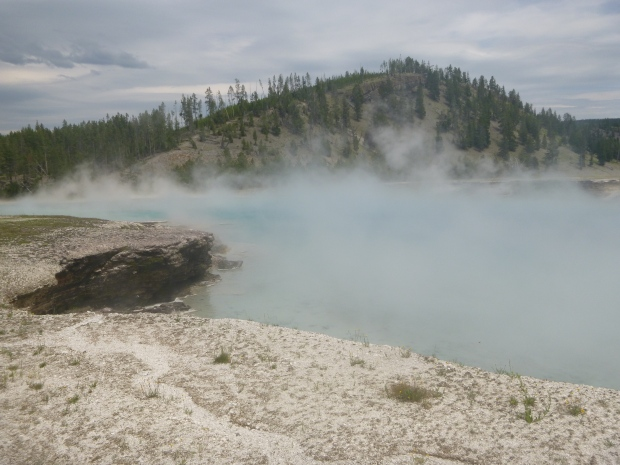 Hot spring at Midway Geyser Basin, Yellowstone National Park, WY