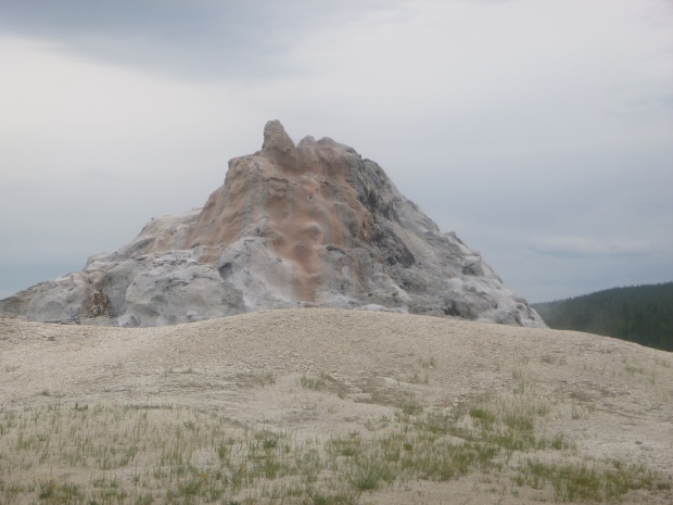White Dome Geyser (a cone-shaped geyser), Yellowstone National Park, WY