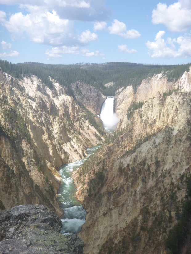 Lower Falls on Yellowstone River in Grand Canyon of Yellowstone, Yellowstone National Park, WY