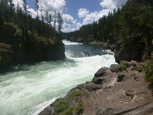 Brink of Upper Falls, Yellowstone National Park, WY
