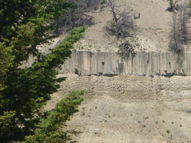 Basalt columns at Yellowstone National Park, WY