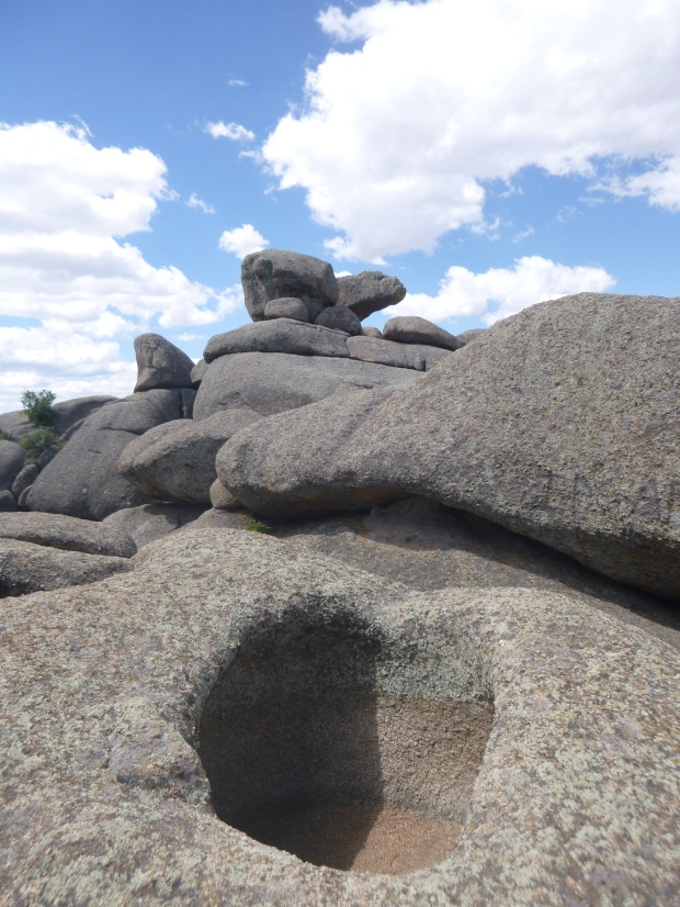 Eroded boulders at Medicine Bow State Park, WY