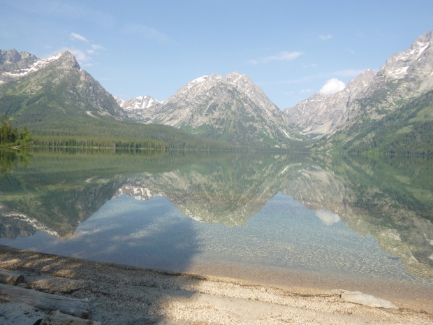 Teton Range reflected in Leigh Lake, Grand Teton National Park