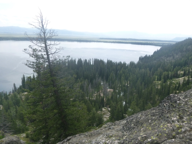 View from Inspiration Point overlooking Jenny Lake, Grand Teton National Park, WY