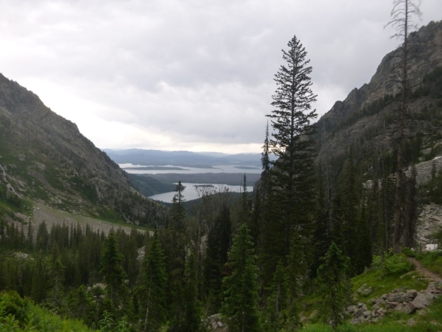 View from near the top of Upper Paintbrush Canyon, elevation 10,000 ft., Grand Teton National Park, WY