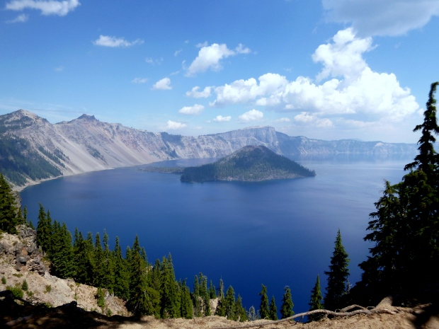 Crater Lake with Wizard Island as seen from the Southeast, Crater Lake National Park, Oregon