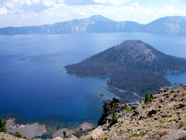 Wizard Island from Watchman Trail, Crater Lake National Park, Oregon