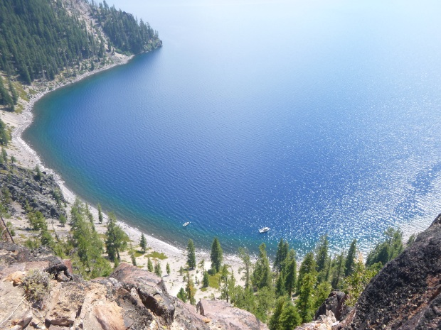 Looking down from top of Cletewood Cove Trail, Crater Lake National Park, Oregon