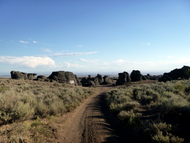 Entrance to the City of Rocks area, before the road became not a road, Idaho