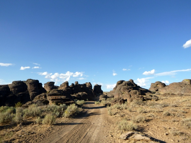 Another view of the road leading into the valley, City of Rocks, Idaho