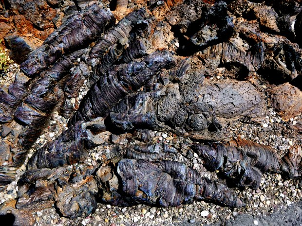 Closeup of Pahoehoe in North Crater Lava Flow, Craters of the Moon National Monument, Idaho
