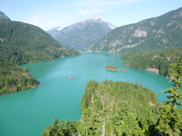 View of Diablo Lake, North Cascades National Park, WA