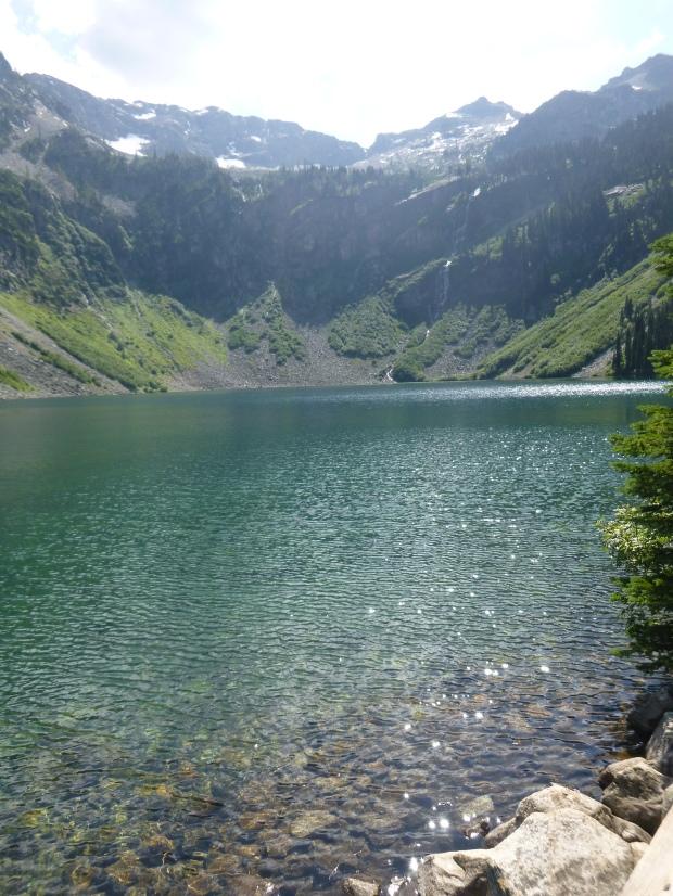Rainy Lake from shoreline, Maple Pass Trail, North Cascades National Park, WA