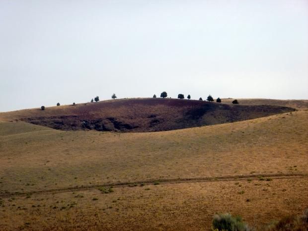 Graben Dome, a collapsed shield volcano, Diamond Craters, Oregon