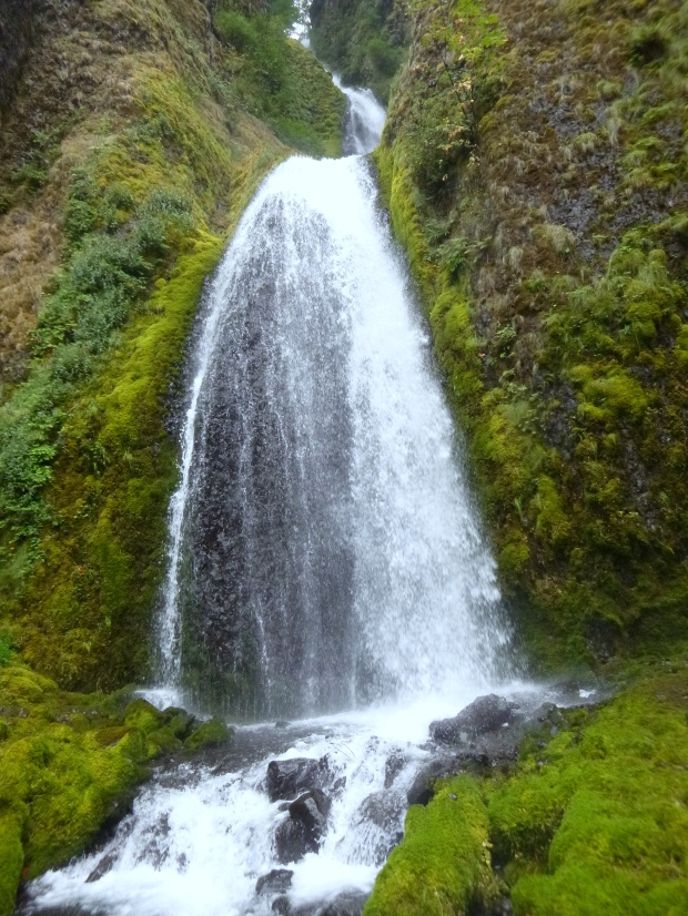 Top cascade of Wahkeena Falls, Oregon
