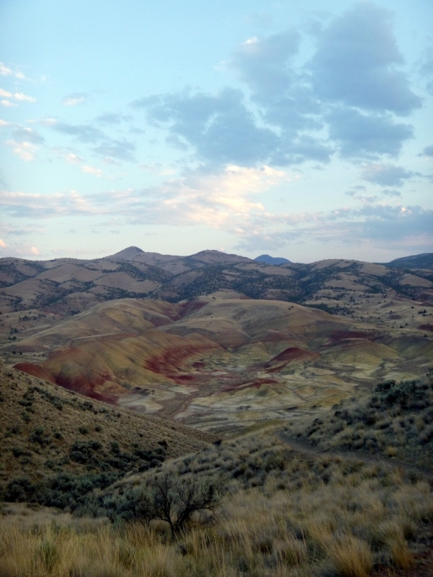 Painted Hills from afar, Carroll Rim Trail, John Day Fossil Beds, Oregon