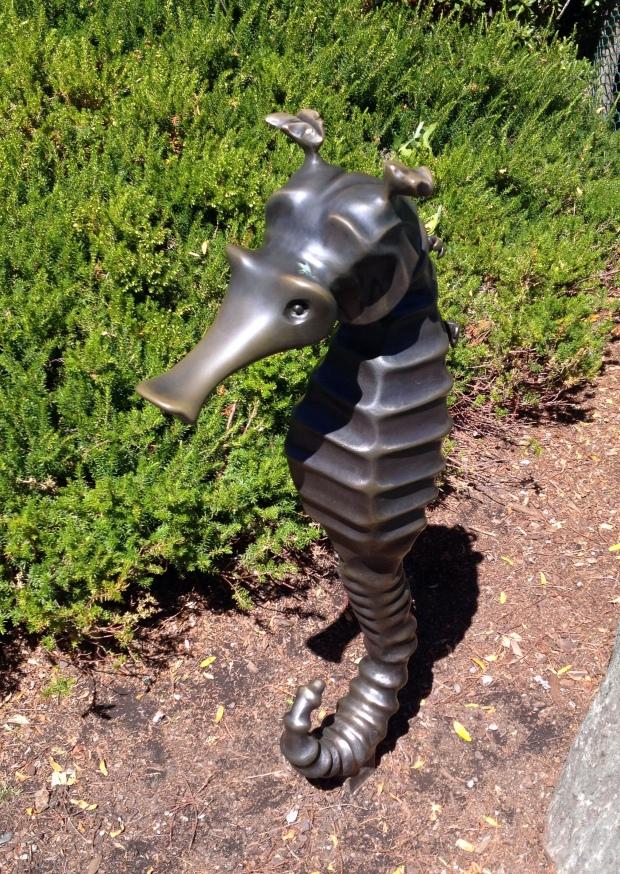 Seahorse sculpture in Seattle Center Park, near Space Needle