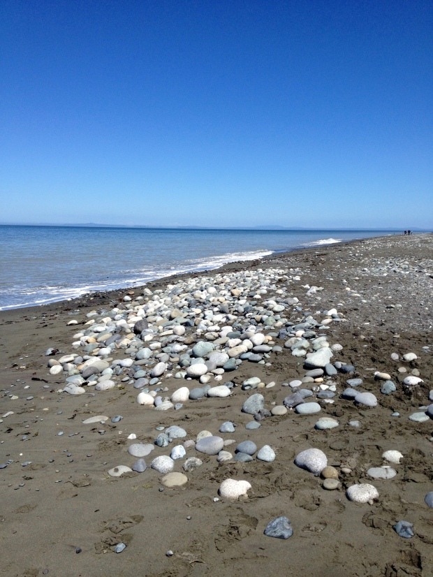 View from Dungeness Spit into Strait of Juan de Fuca, Dungeness National Wildlife Refuge