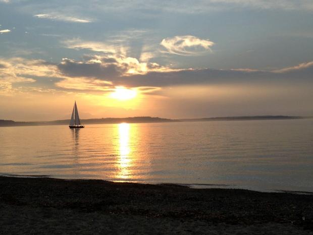 Sunset at Alki Beach, Seattle