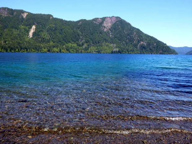 Water at Lake Crescent, Olympic National Park