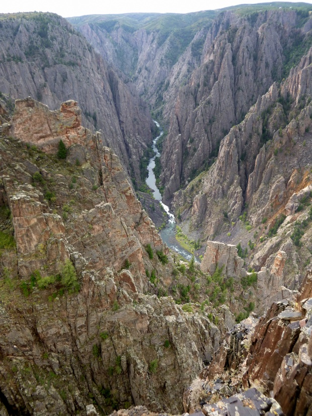 Kneeling Camel (light colored rock on left, 1/3 way down from top) Overlook, Black Canyon of the Gunnison National Park, Colorado
