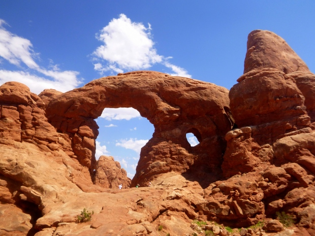 Turret Arch from behind, Windows Trail, Arches National Park, Utah