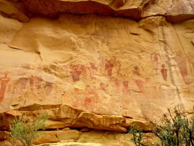 Larger than life-sized Barrier Canyon anthropomorphic panel, Sego Canyon, Utah