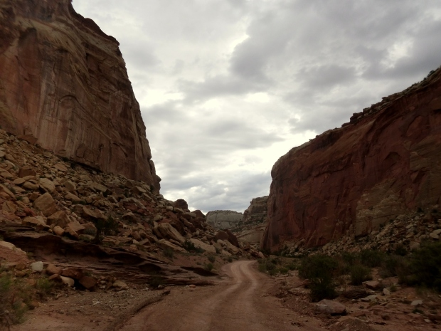 Drive into Grand Wash, Capitol Reef National Park, Utah