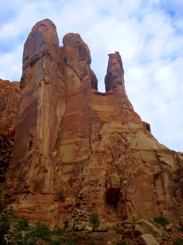 Wall and rock formation in Lower Spring Canyon, Capitol Reef National Park, Utah