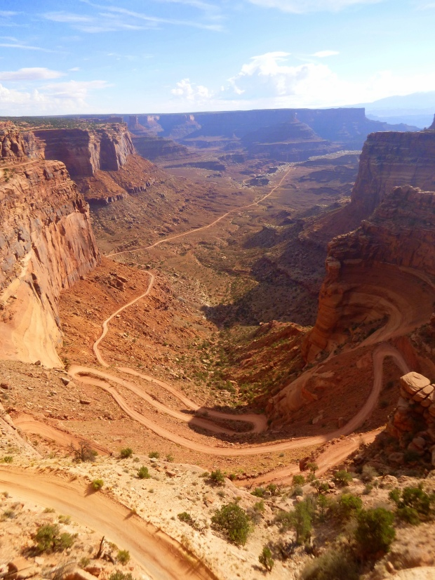 View from Shafer Canyon Overlook with White Rim Road below, Canyonlands National Park, Utah