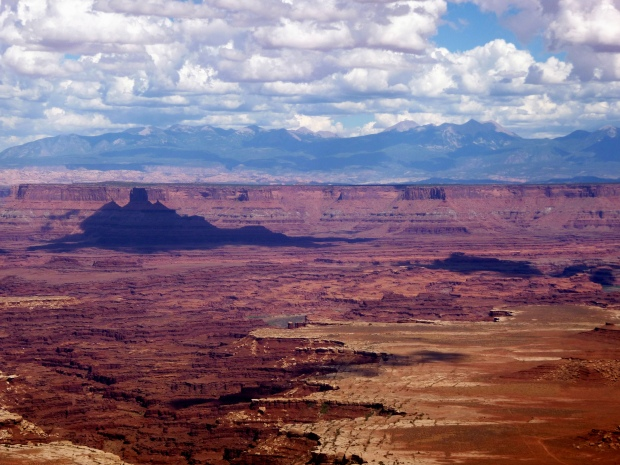 Zoom shot of Buck Canyon from eponymous overlook, Canyonlands National Park, Utah