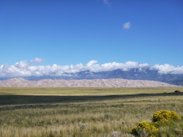The Great Sand Dunes National Park from the road, Colorado