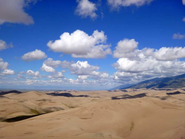 View of the dunes from the top of High Dune, Great Sand Dunes National Park, Colorado