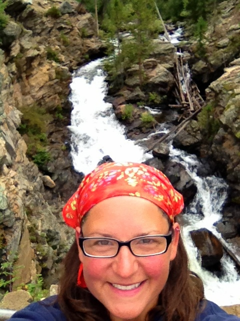 Me in front of Adam's Falls, Rocky Mountain National Park, Colorado
