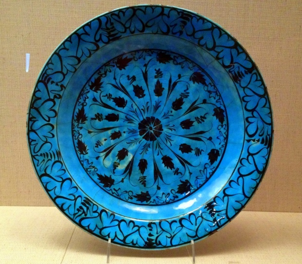 Turquoise slip Kubachi ware (Iran), early 1500s AD, Denver Art Museum, Colorado