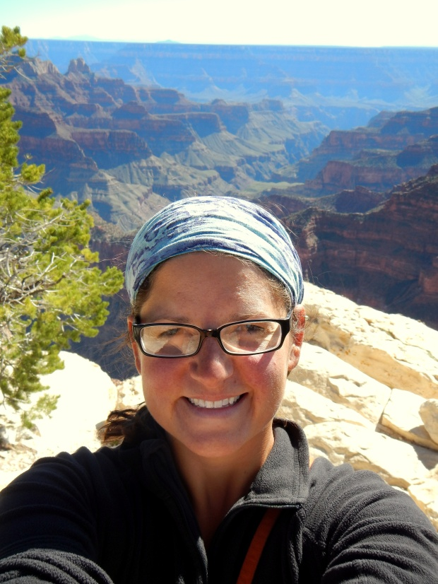 Me ont rail to Bright Angel Point, North Rim, Grand Canyon National Park, Arizona