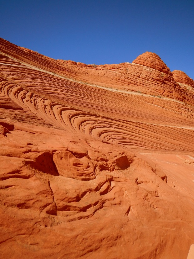 Close-up of swirled layers, Coyote Buttes, Grand Staircase-Escalante National Monument, Utah-Arizona border