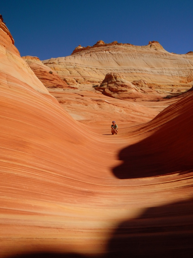 Me by The Wave, Coyote Buttes, Grand Staircase-Escalante National Monument, Utah-Arizona border