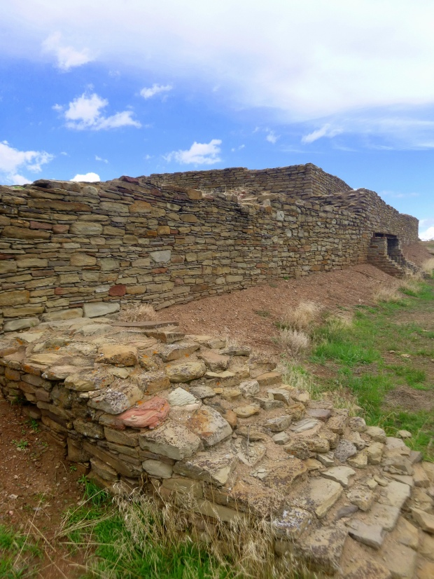 Masonry at Great House, probable construction 1076 AD (stage I), 1093 AD (stage II), Chimney Rock National Monument, Colorado