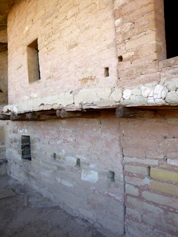 Original timber and roofing, Balcony House, ca. 1278 AD, Mesa Verde National Park, Colorado