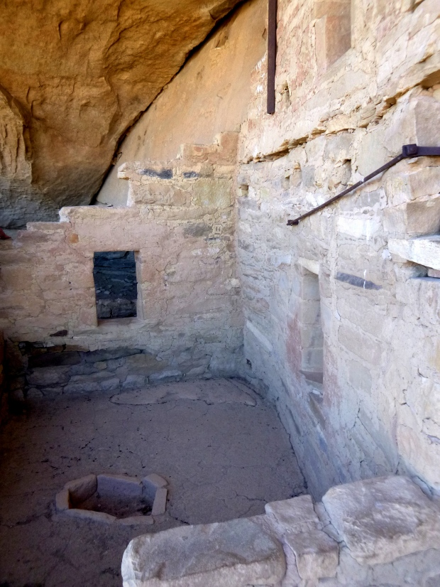 Masonry integrated in cliff wall, Balcony House, ca. 1278 AD, Mesa Verde National Park, Colorado