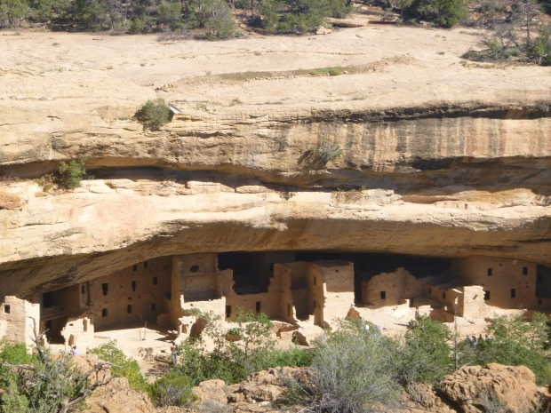 Spruce Tree House from above, 1211 - 1278 AD, Mesa Verde National Park, Colorado