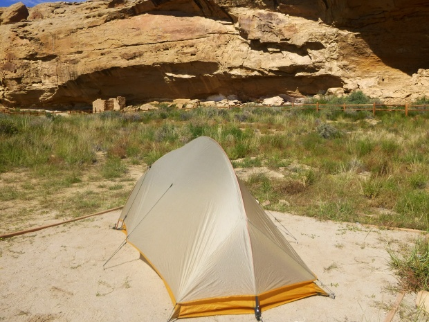 My campsite, Chaco Canyon National Historical Park, New Mexico