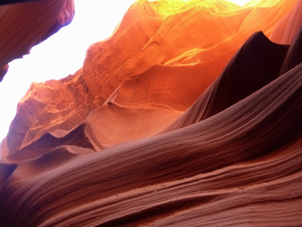 The range of colors in Lower Antelope Canyon, Navajo Tribal Park, Arizona