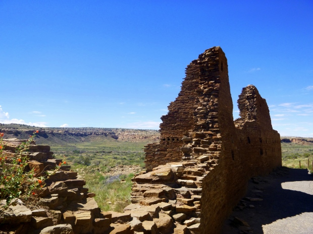 Hungo Pavi from north, ca. 1000 - 1080 AD, Chaco Canyon National Historical Park, New Mexico