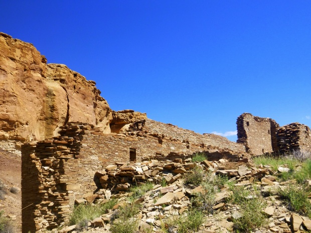 Hungo Pavi from trail, ca. 1000 - 1080 AD, Chaco Canyon National Historical Park, New Mexico
